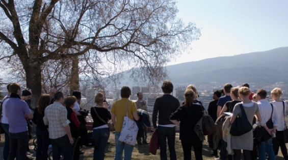 Excursion during field course in Skopje, Macedonia.